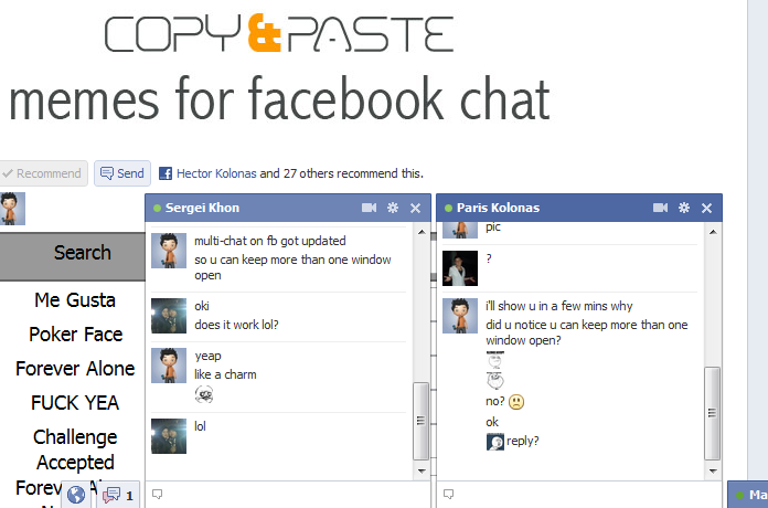 how to start chat with girl on fb